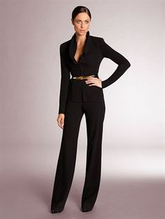 Donna Karan Modern Icons Black Pant Suit