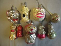DSCN3838 by jerrygarnold, via Flickr  Blown glass ornaments, animals.