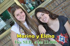 Marina y Elena nos deleitarán con unos cuantos temas musicales que interpretarán en la SALA DE MÚSICA el Día Sed.