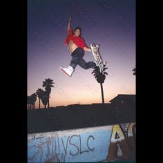 Scott Oster Venice Beach mid 80's - Photo: Chuck Katz