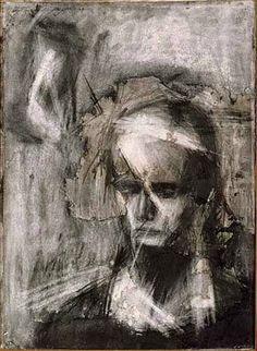 Head of Julia, c1960, Frank Helmut Auerbach