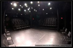My first class of the day is in the black box theater. The black box has a lighting system able to change the DISTRIBUTION of the light while actors put on a show. For example, there are hanging lights throughout the entire room to distribute the light evenly, or there are spotlights set up to highlight a certain spot of the room.