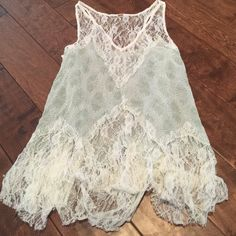 Free People Lace Tank Top NWOT Free People Lace Tank Top NWOT tag is cut to prevent store return. Free People Tops Tank Tops