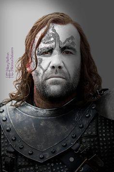 Sandor Clegane (The Hound), GOT War Paint by Hilary Heffron