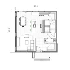 Town House Floor Plan, Small House Plans, 20x40 House Plans, Sims Building, Apartment Floor Plans, Tower House, Home Interior Design, Planer, Architecture Design