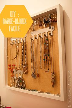 Organiseur à bijoux facile - range bijoux Easy Jewel Organizer - Ikea Hacking Ikea hack DIY L'atelier Azimuté