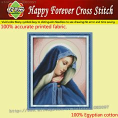 Goddess Jesus mom Painting Home wall Decor 11CT Counted Print on canvas embroidery Cross Stitch DMC kits Crafts needlework Sets(China (Mainland))