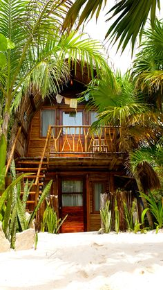 Ahau Tulum - Bali Hut... Ecological Caribbean Cabanas with solar & wind energy, recycling & composting and everything to take care of this natural mayan place. Beauty & Comfort on the beach with Wiffi, MP3 friendly docking stations, bathrobes, etc. Fresh Mexican cuisine (by the International Chef Roberto Vilchis) to enjoy in its restaurant on the beach. Daily Yoga classes. Kiteboarding & Paddle Surf Center on the beach. #tulum #mexico #cabana #hut #beach #green #nature