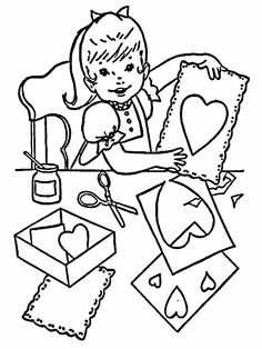 Free Printable Kids Valentines Coloring Page For Before The Holiday Including Flowers Hearts Valentine Cards And