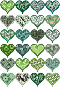 artbyjean clip art hearts | CUTE LITTLE HEARTS - A collection little heart clip art with 24 hearts ...