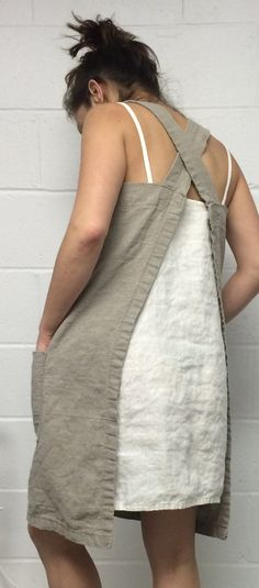 Linen Pinafore by MissesCountry on Etsy