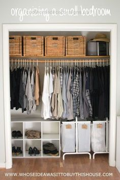How We Organized Our Small Bedroom  how we organized our small bedroom, bedroom ideas, closet, organizing, storage ideas  http://www.coolhomedecordesigns.us/2017/06/10/how-we-organized-our-small-bedroom/