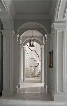 Traditional Staircase Design Ideas, Pictures, Remodel and Decor Classic Interior, Luxury Interior Design, Interior Architecture, Interior And Exterior, French Architecture, French Design Interiors, Interior Design Portfolios, Interior Sketch, Victorian Architecture