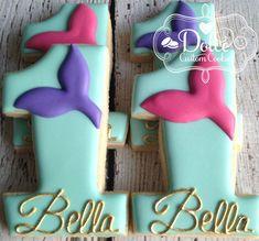 Mermaid Under The Sea First Birthday Cookies by DolceCustomCookies