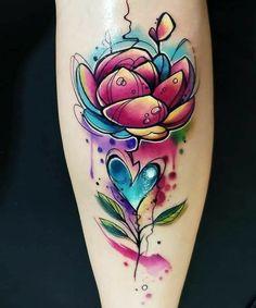 Pretty Tattoos, Cute Tattoos, Beautiful Tattoos, Leg Tattoos, Flower Tattoos, Body Art Tattoos, Sleeve Tattoos, Tatoos, S Tattoo