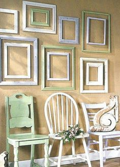 123 Best Decorating With Empty Frames Images Empty Picture Frames