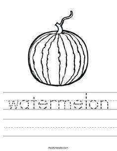 Watermelon Worksheet from TwistyNoodle.com | Food Mini Books ...