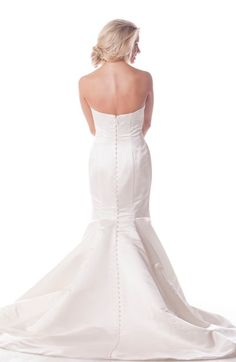 Main Image - Olia Zavozina Strapless Silk Duchess Trumpet Gown (In Stores Only)