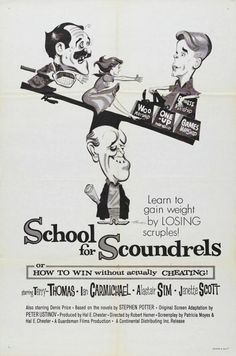 School for Scoundrels - 1960 British Comedy Classic with Terry Thomas  http://www.impawards.com/1960/posters/school_for_scoundrels.jpg