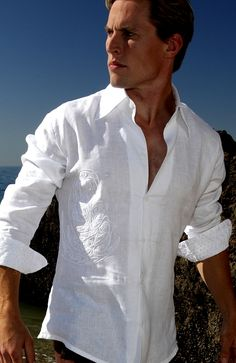 Only one word – Linen. They are light and cool, work equally well at meetings and parties, and are not limited to trousers or jeans.