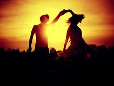 #silhouette #dancing #couple