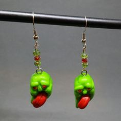Slimer Earrings from Ghostbusters by MadHouseTrinkets on Etsy, $15.00