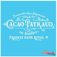 """French Cacao Payraud Stencil ((Small - 12"""" x 6.5""""))"""