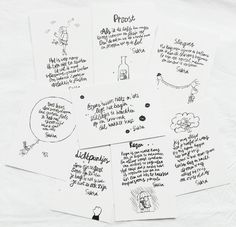 I don't understand a single word, but they're all very pretty. Cards from Atelier Sukha Webshop.