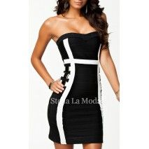 Bandage Party Queen Buckled Embellishment Dress