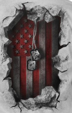 This would make a cool tatt to honor my brothers and sisters. American Flag Wallpaper, American Flag Art, American Soldiers, Army Tattoos, Military Tattoos, Warrior Tattoos, 3d Tattoos, Tattoo Ink, Sleeve Tattoos