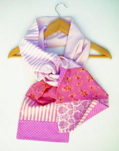 écharpe femme rose pois fleurs modèle créateur unique   Echarpe, foulard,  cravate par lefil 7ebf62eb462