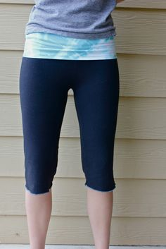DIY Yoga Pants!   A must try for more of those comfy pants at a much cheaper price!