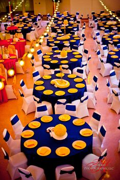Um, Maize & Blue wedding reception?  My future husband better be a Wolverines fan because this is SO happening!
