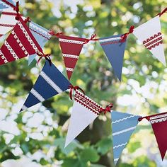 bunting tutorial with template