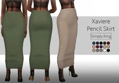 Simply King: Xaviere Pencil Skirt • Sims 4 Downloads