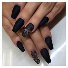 31 Trendy Nail Art Ideas for Coffin Nails ❤ liked on Polyvore featuring beauty products, nail care, nail treatments and nails