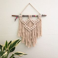 Macrame Wall Hanging by LetsMakeCoolStuff on Etsy https://www.etsy.com/listing/279748544/macrame-wall-hanging