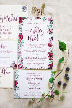 Organic Napa Wedding with a Berry Palette - Style Me Pretty Bali Wedding, Wedding Blog, Our Wedding, Dream Wedding, August Wedding, Wedding Ideas, Wedding Invitation Cards, Wedding Stationery, Invites