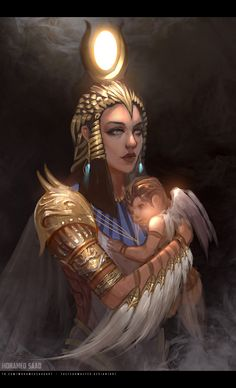 Sphinx ~ Egyptian Gods by Yliade on DeviantArt Egyptian Isis, Egyptian Queen, Egyptian Mythology, Ancient Egyptian Art, Ancient Aliens, Ancient Greece, Ancient History, Anime Egyptian, Ancient Egypt