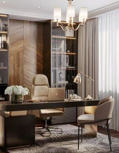 Office Table Design, Modern Office Design, Home Office Setup, Office Interior Design, Office Interiors, Room Interior, Lawyer Office, Luxury Office, Home Decor