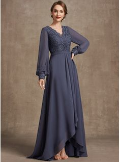 A-Line Square Neckline Asymmetrical Chiffon Mother of the Bride Dress With Appliques Lace Sequins (008235589) - JJ's House Brides Mom Dress, Lace Evening Dresses, Bridesmaid Dresses, Wedding Dresses, Custom Dresses, Occasion Dresses, Mother Of The Bride, Sequins, Summer Fall