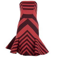 #I LOVE HIRSHLEIFERS   Hirshleifers - Lanvin - Flounce-Skirted Striped Dress (Coral/Burgundy), $4,560.00 (http://www.hirshleifers.com/ready-to-wear/dresses/lanvin-flounce-skirted-striped-dress-coral-burgundy/)