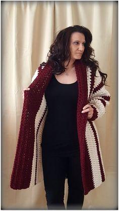 Crochet Cardigan, Sweaters, Fashion, Moda, Crochet Jacket, Pullover, Sweater, Fasion
