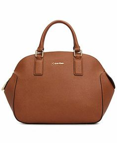 Calvin Klein Handbag, Key Items Saffiano Satchel