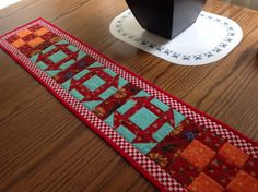 Skinny Table Runner by AQuiltIsBorn on Etsy