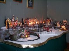 christmas village set up - Google Search