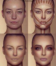 How To Do Make-up – Step By Step Ideas For The Good Look Spotlight contour hypnaughty.make-up samer khouzami mild pores and skin Makeup Contouring, Contouring And Highlighting, Skin Makeup, Highlight Contour Makeup, Makeup Cosmetics, Makeup Eyeshadow, Drugstore Makeup, Makeup Eyebrows, Airbrush Makeup