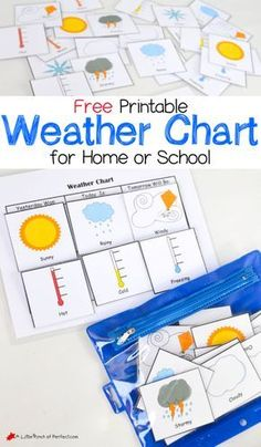 Printable Weather Charts - perfect for having the kids mark the weather every day | Activities for Kids | Pinterest | Weather. Chart and Activities