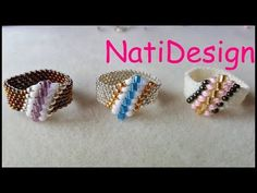 DIY Jewelry ideas, tips, techniques and designs. Learn how to make handmade jewelry with the step by step and instructions. Diy Jewelry Making, Bracelet Making, Ring Making, Beaded Jewelry Patterns, Beading Patterns, Bead Jewellery, Jewelry Rings, Jewelry Ideas, Ring Tutorial
