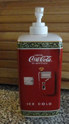 Vintage Coca Cola Lotion or Soap Ceramic by tennesseehills on Etsy, $7.00